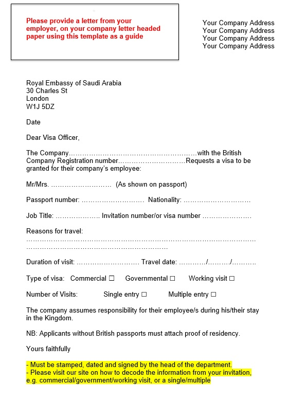 saudi-support-letter Sample Cover Letter For Business Visa Application on for french, australia student, for singapore, requesting tourist, for double entry, for germany, for german tourist,